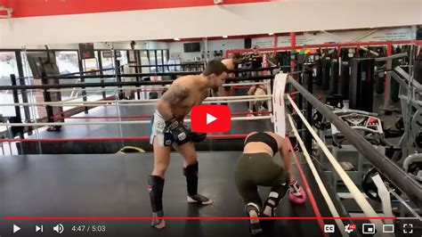 Video: Mike Perry drops his girlfriend in sparring after