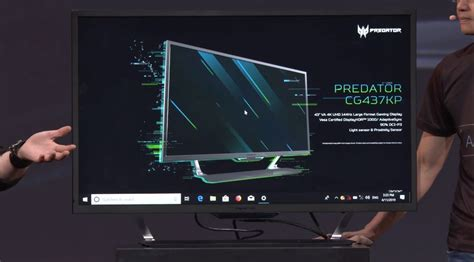 Acer goes big and bright with a 43-inch 4K 144Hz gaming
