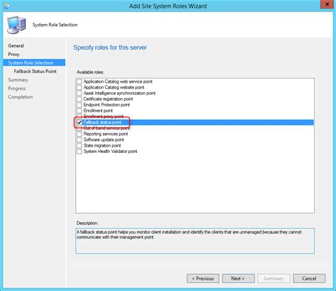 How to install SCCM 2012 R2 Fallback Status Point