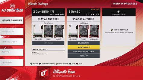 Madden NFL 20: Ultimate Challenges Are Replacing Solos
