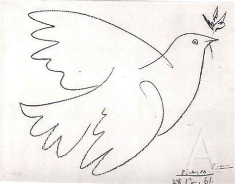 Picasso, dove with olive branch- 1961 | Kunst picasso