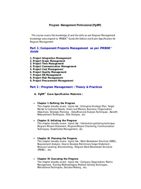 FREE 4+ Program Management Examples & Samples in PDF   DOC