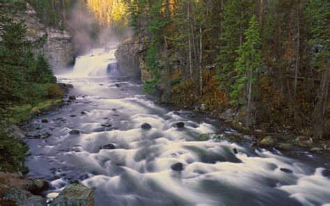 Firehole Falls Is A Waterfall On The Firehole River In