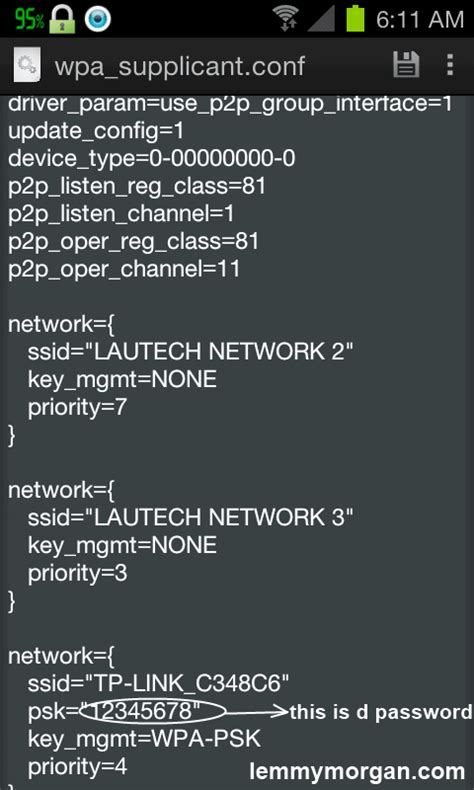 Find A Wifi Password (Network SSID) On Android Phone