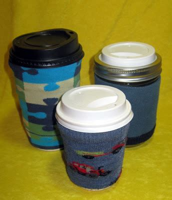 yellowhibiscus -- designed for fun!: No Sew Cup Cozy and