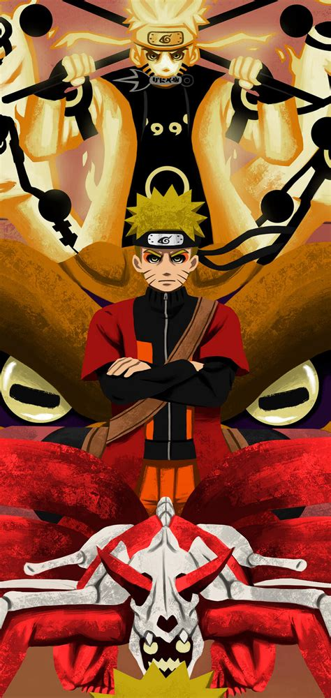 Naruto Phases by LawrenDoll Galaxy S10 Hole-Punch Wallpaper