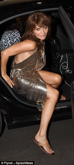 Helena Christensen shows off age-defying beauty at Versace