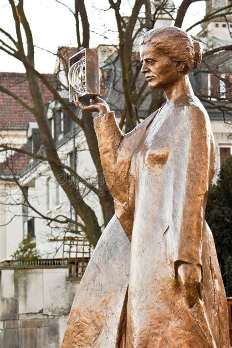 Statue Of Marie Curie In Warsaw Editorial Image - Image of