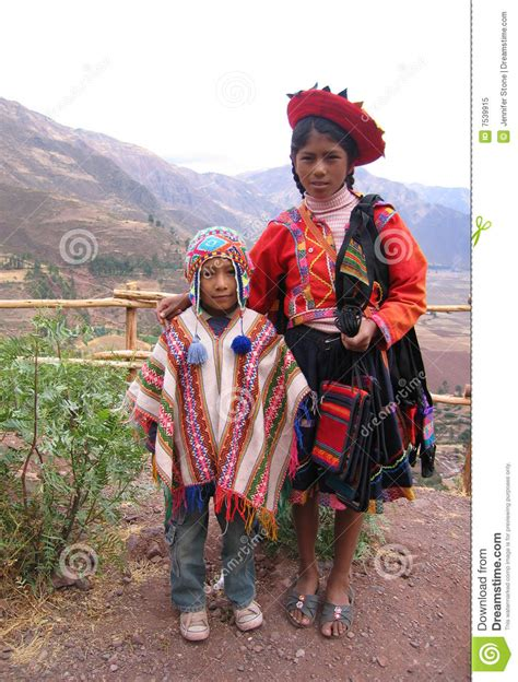 Traditional Peruvian Children Editorial Image - Image of