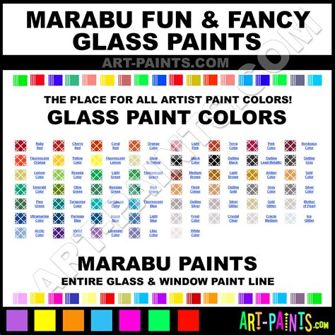 Marabu Fun and Fancy Glass and Window Paint Colors, Stains